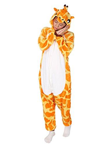 Très chic mailanda unisex da adulto costume intera pigiama cosplay animale pigiama costume di halloween(giraffa)