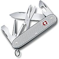 Victorinox Taschenmesser Pioneer X Alox (9 Funktionen, Klinge, Schere, Dosenöffner) silber