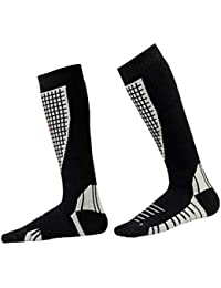 Yying Calcetines térmicos de esquí Deportes de algodón grueso Snowboard Ciclismo Calcetines de fútbol de esquí