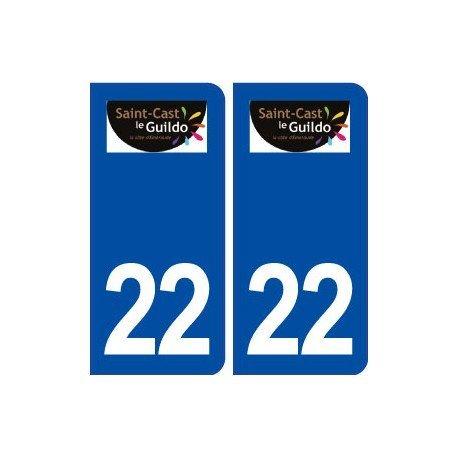 22Saint Cast das Guildo Logo Stadt selbstklebend Platte Wandtattoo