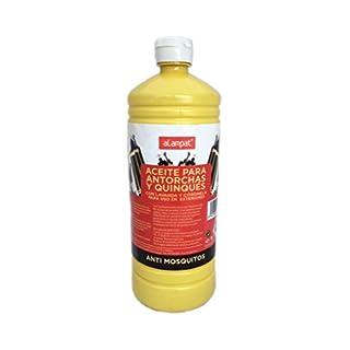 alampat 220-Öl für Gartenfackeln mit Citronella, 1L, Gelb