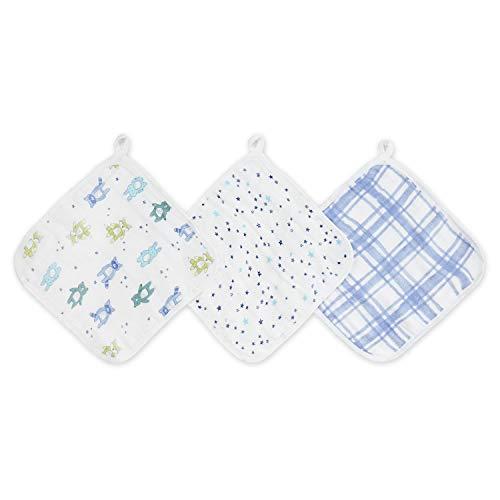 aden + anais Friendly Forest 3-Packaden Washcloths