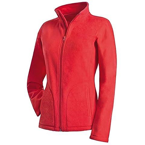 Active By Stedman Damen Fleece-Jacke (L) (Rot) L,Rot