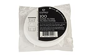 Espro Travel Press Pack 100 Papel Filtro - 1008-PF-100 - Para Prensa de Viaje 350 ML / 12 OZ