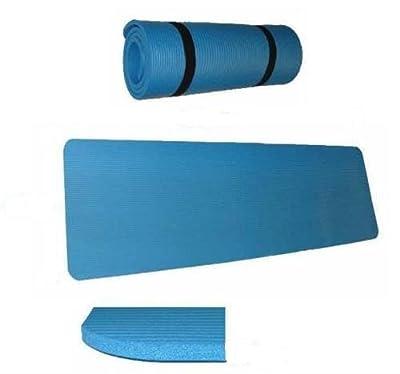 Yogamatte Pilates Gymnastikmatte 190 x 100 x 1,5 cm in blau