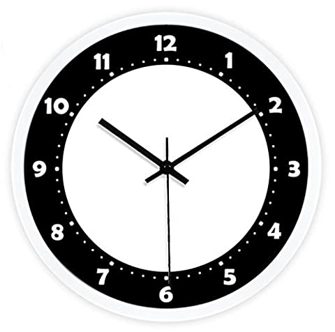 Sucastle Creative wall clock, art wall clock, fashion wall clock, simple wall clock, modern wall clock, black wall clock, digital wall clock, large wall clock, living room clock, clock, mute wall clock 12