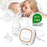Elektrische Milchpumpe Single/Doppel Brustpumpen Stillen Automatische Massage mit Full Touchscreen Digitale LCD-Anzeige