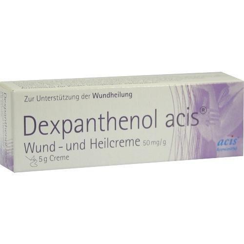 DEXPANTHENOL acis Wund- und Heilcreme 5 g Creme
