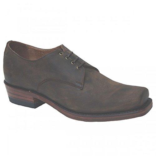 Sendra - Chaussure Faite Main Biker Motard nubuk brown