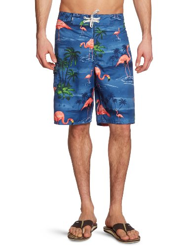 Vans, Pantaloni corti Uomo Off The Wall Board, Blu (blue flamingo), 29