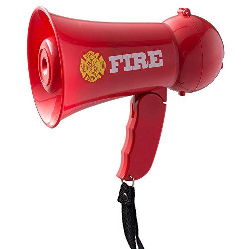 Dress Up America Täuschen Sie das Megaphon-Megaphon des Kinderfeuerwehrmann-Megaphons mit Sirenenton vor. Handheld-Mic-Spielzeug