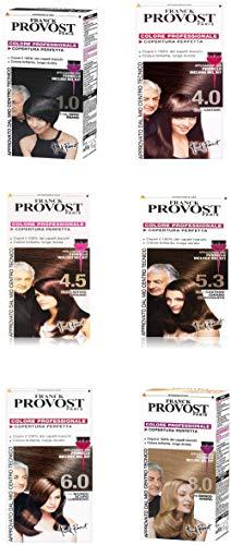 6 x Franck Provost Colorazione Capelli, Tinta Copertura 1.0,4.0,4.5,5.3,6.0, 8.0,