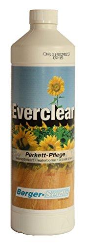 Berger-Seidle Everclear, L93, hochwertige Parkettpflege Pflegemittel Holz Parkett (1 Liter glänzend)