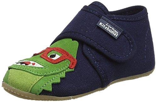 Living Kitzbühel Babyklettschuh mit Velour - Zapatos de primeros pasos de lana Bebé - unisex, color gris, talla 19