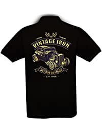 Ethno Designs - Vintage Iron - Hot Rod Polo Shirt Old School Rockabilly Retro Style pour Hommes