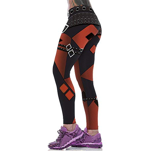 e2e778df20 MEIbax Leggings Deportes Pantalones para mujeres con de Estampado 3D  Imprimir de cintura alta Casual entrenamiento