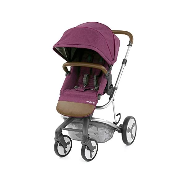 BabyStyle Hybrid Edge Stroller, Wild Orchid Babystyle A truly unique innovative and contemporary designed single stroller Multi-position seat recline with inventive one pull 5-point harness system Removable parent or forward facing seat with bumper bar and matching apron cover 1