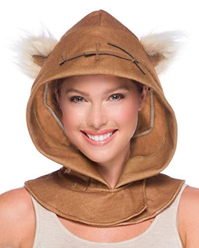Erwachsene Kostüm Einfach Für Niedlich - Horror-Shop Ewok Kapuzenmütze für Star Wars Motto Partys und Karneval