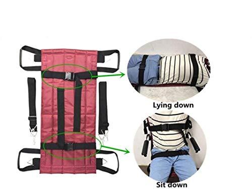 ZENGZHIJIE Transferboard Gurt Rollstuhlschieben Medizinischer Hebegurt Wender Patientenversorgung Sicherheit Mobilitätshilfen Ausrüstung