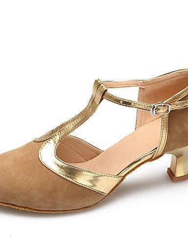 La mode moderne Sandales Chaussures de danse de daim/Cuir Daim Brevet Brevet/latin/cuir talon aiguille talons moderne Pratique/IndoorBlack US4-4.5/EU34/UK2-2.5/CN33