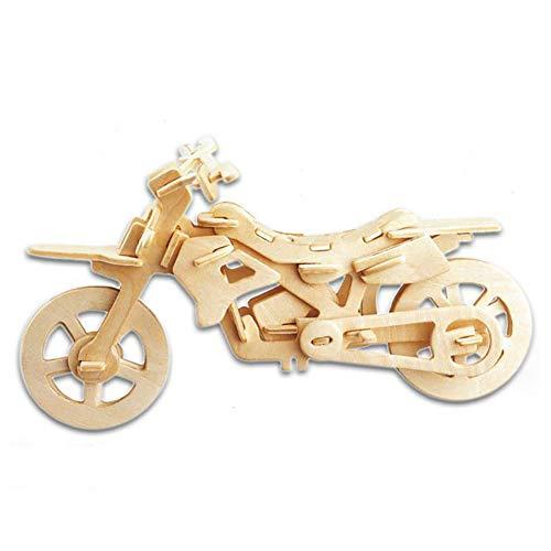 Mudacun 3D Holzpuzzle Gebäude-Spielzeug-Motorrad-Holz Puzzles Lernspielzeug DIY Spielzeug für Kinder und Erwachsene