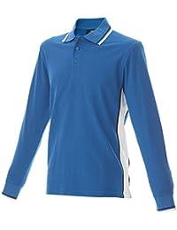 0bd8c07329e4 Polo da Lavoro Uomo T-Shirt Manica Lunga con Colletto Cotone Piquet JRC