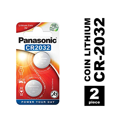 Panasonic CR2032 Lithium Knopfzelle, 3V, 2er Pack -