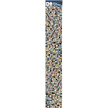 Sticker de decoración para azulejos - Smooth - MOSAICO MULTICOLOR, 6piezas cuadradas de 15x15cm vinilo, multicolor, 15x 0,1x 15cm - Plage 260554