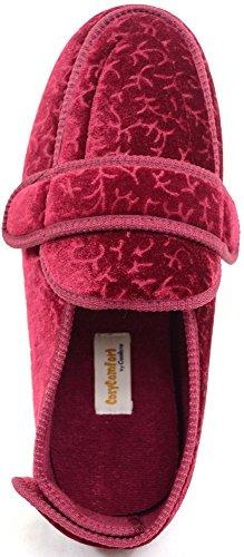 Snugrugs, pantofole ortopediche da donna, pantofole ampie fino alla caviglia Viola (Bordeaux)