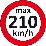 EICHNER - v-max Aufkleber: 210 Km/H Etikett der Räder Wintergeschwindigkeit, 1 Paket = 1 Karton 100 engomada Text Max. bis 210 km/h GSY: H