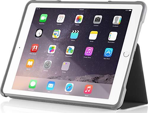 STM Bags Dux Case Folio Schutzhülle für Apple iPad mini 4 - schwarz/transparent [Militär Standard I Transparente Rückseite I Wasserabweisend I Standfunktion I wake/sleep] - STM-222-104GZ-01