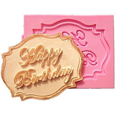 Y&XL&H feliz moldes de pastel fondant tarjeta de la decoración del molde del chocolate de la magdalena de cumpleaños para la cocción de la cocina