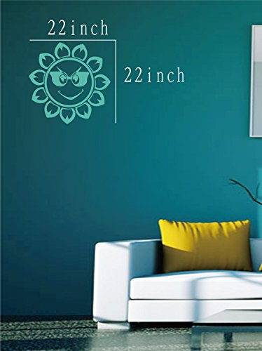 Large--Easy instant decoration wall sticker wall mural boy girl kids baby nursery room butterfly sun FL782