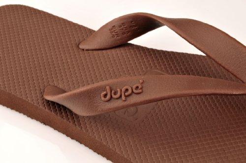 Dupé Monocolor II in schwarz, weiss, braun und dunkelblau, Dupe Zehentrenner, Gummi Brasilien SALE Dupe Braun
