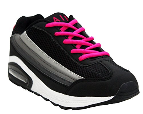 Womens Ladies Air Tech Girls Lace Up Shock Absorbing Running Fitness Sports  Gym Trainers Shoes Sizes