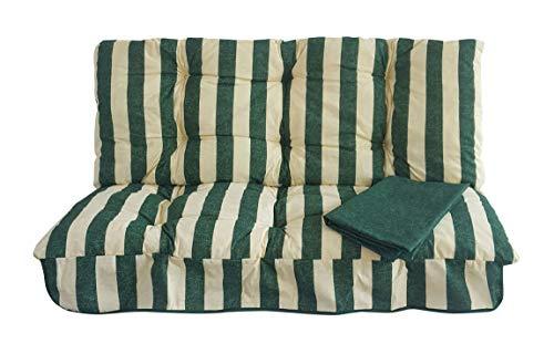 Ricambio Completo di TETTUCCIO per Dondolo 3 POSTI Riga Verde