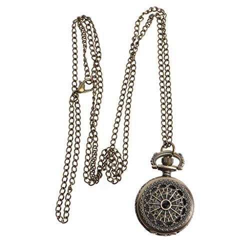 Kreative Quarz-Taschenuhr mit Spinnennetz, modisch, Vintage-Bronze-Anhänger, hohl, für Damen und Herren, Party, Mini-Halskette, Schmuck, Geschenk von ESden