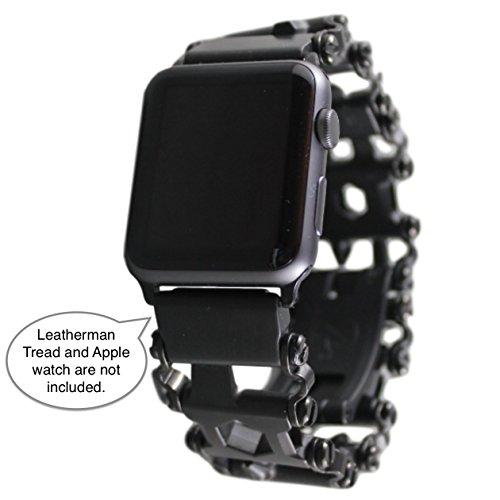 BestTechTool Kompatibel mit Leatherman-Edelstahl Adapter für Uhr mit Profilmuster Treten Apple-Uhr 44mm / 42mm