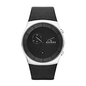 Skagen SKW6070 - Reloj de pulsera hombre, piel, color negro de Skagen