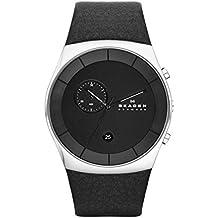 Skagen SKW6070 - Reloj de pulsera hombre, piel, color negro