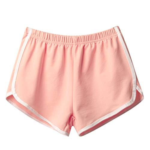 XZDCDJ Capri Hose Damen Sommer Frauen Sommer Sport beiläufige Kurzschluss Strand Kurze Hosen Rosa,XL