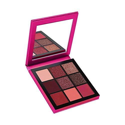 Ombre à Paupières Cosmétique Maquillage 9 Couleur Palette de Poudre de Fard à Paupières Pearl Glitter Mat audacieuse Pas cher (Rose Chaud)