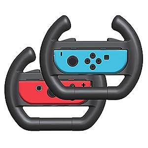 MPTECK @ Joy-Con Rennlenkrad Lenkung Rad Griff Rennspiel lenkrad antreibendes rad Lenkrad Aufsatz 2PCs für Nintendo Switch Controller