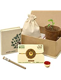 SeedRakhi for Brother - Plantable Rakshabandhan Rakhi with Seed Paper Diary & Eco Friendly Pen - Raksha Bandhan Rakhi Gift Set for Brother; Kids; Sister Handcrafted by Women Self Help Group