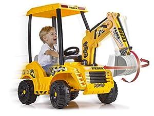 FEBER- Super Digger Excavadora a batería para niños y niñas a Partir de 3 años, 12V, Multicolor (Famosa 800012320)