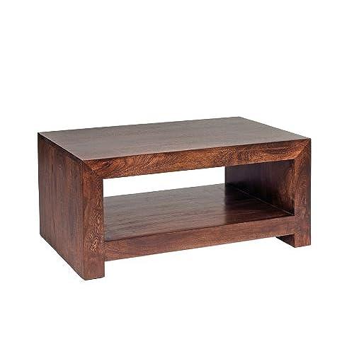 ML13a Ajak Mango Range   Dark Wood Medium Coffee Table   Deep Walnut   Solid  Indian Hardwood   No Assembly Required