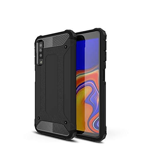 TenYll Samsung Galaxy A7 2018 Custodia,Protezione Antiurto per PC+TPU Antiurto,Anti-Graffio,per Samsung Galaxy A7 2018 Custodia -Nero
