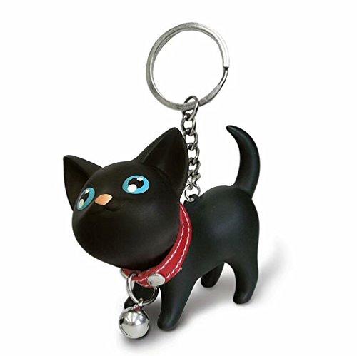 JOYJULY Katze Kätzchen Schlüsselanhänger Kette Kawaii Entzückende Tasche Anhänger Spielzeug Liebhaber Kinder Schlüsselbund Schlüsselring Schlüsselringe -