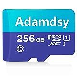 Adamdsy Scheda di memoria micro SDXC 256 GB con adattatore SD per fotocamera, tablet e smartphone Android (H158-L1)