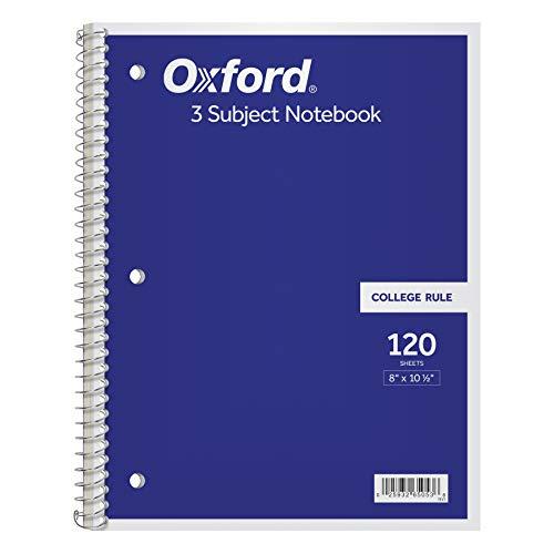 Tops 3Thema Spirale Notebook, College liniert, 120Blatt, weiß, 26,7x 20,3cm (65053) (Top-spirale Gebunden Notebook)